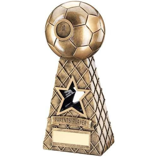 Bronze/Gold Football Net Pyramid Trophy - Parents Player