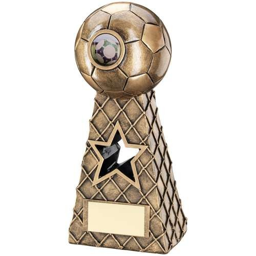 Bronze/Gold Football Net Pyramid Trophy