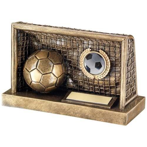 Bronze/Gold Football in Goals Trophy