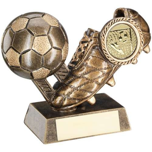 Bronze/Gold Football and Boot Trophy