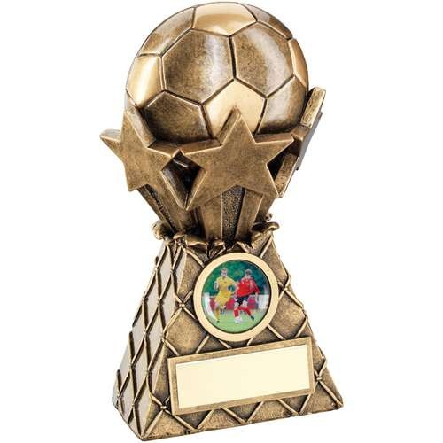 Bronze/Gold Football and Stars Net Burst Trophy