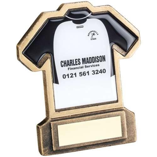Bronze/Gold Resin Football Shirt Trophy
