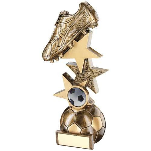 Bronze/Gold Football Boot on Multi-Star Riser Trophy