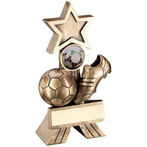 Bronze/Gold Football Shooting Star Trophy