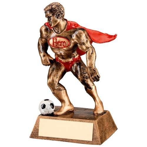 Bronze/Gold/Red Resin Football 'Hero' Trophy
