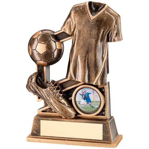 Bronze/Gold Football Diamond Series Trophy