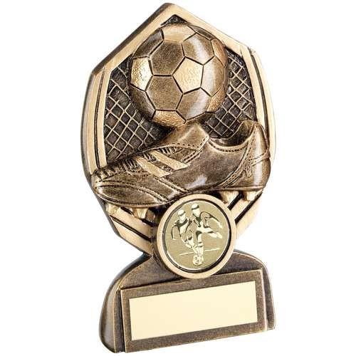 Bronze/Gold Football Diamond Trophy