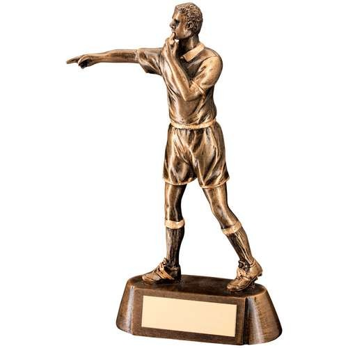 Bronze/Gold Resin Referee Figure Trophy