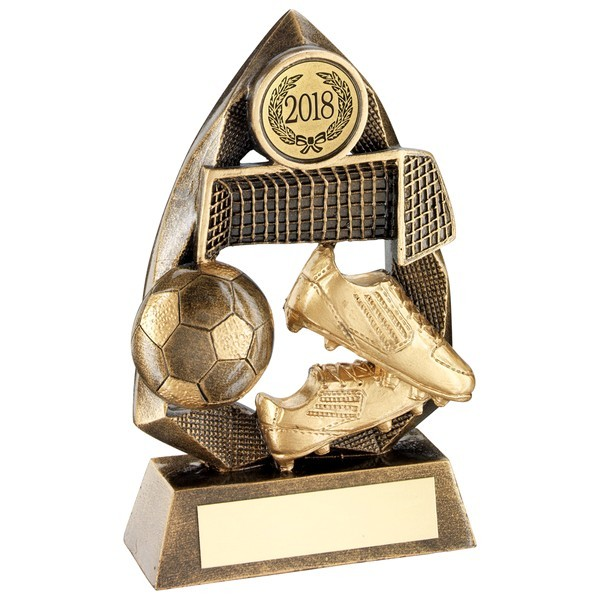 Bronze/Gold Football Diamond Collection Trophy
