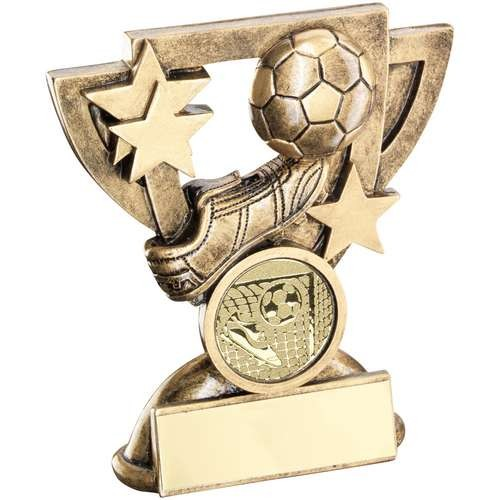 Bronze/Gold Football Mini Cup Trophy