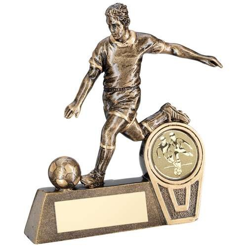 Bronze/Gold Mini Male Football Figure Trophy