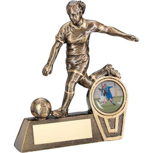 Bronze/Gold Mini Female Football Figure Trophy