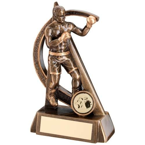 Bronze/Gold Boxing Geo Figure Trophy