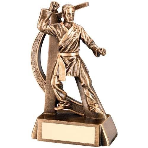 Bronze/Gold Male Martial Arts Geo Figure Trophy