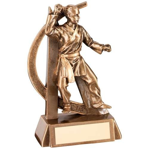 Bronze/Gold Female Martial Arts Geo Figure Trophy