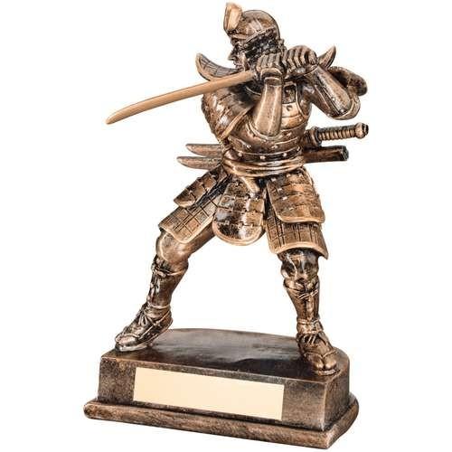 Bronze/Gold Resin Samurai Figure