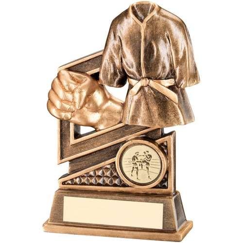 Bronze/Gold Martial Arts Diamond Series Trophy