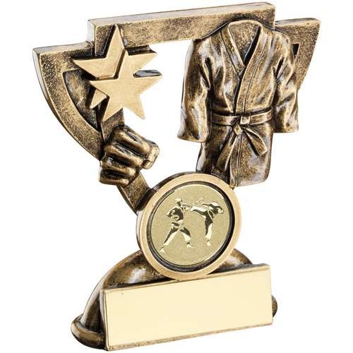 Bronze/Gold Martial Arts Mini Cup Trophy