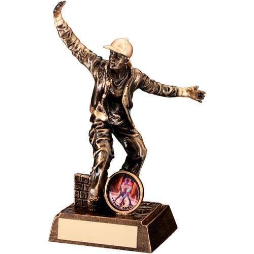 Bronze/Gold Resin Male Street Dance Figure Trophy