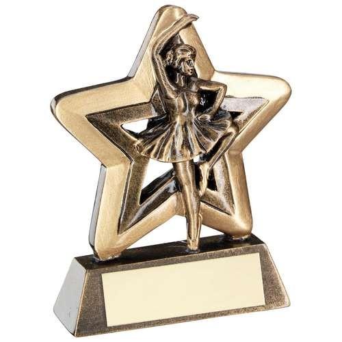 Bronze/Gold Ballet Mini Star Trophy