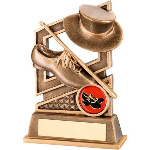 Bronze/Gold Tap Dance Diamond Series Trophy