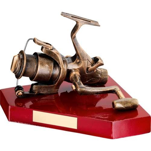 Bronze/Gold Resin Angling Reel Trophy