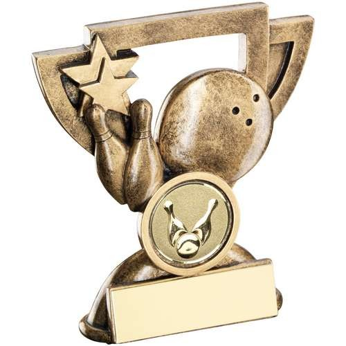 Bronze/Gold Ten Pin Mini Cup Trophy