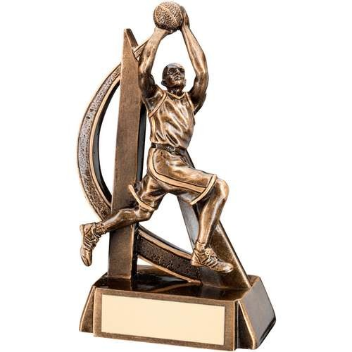 Bronze/Gold Male Basketball Geo Figure Trophy
