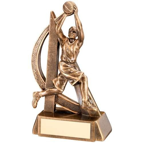 Bronze/Gold Female Basketball Geo Figure Trophy