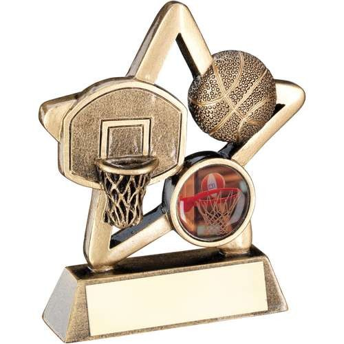 Bronze/Gold Basketball Mini Star Trophy