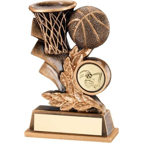 Bronze/Gold Basketball Leaf Plaque Trophy