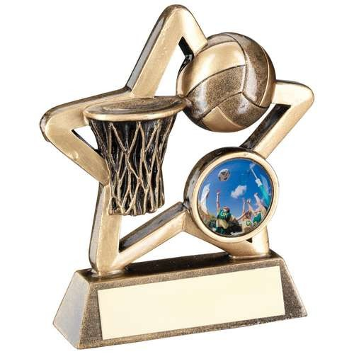 Bronze/Gold Netball Mini Star Trophy