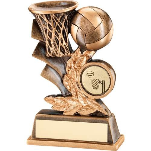 Bronze/Gold Netball Leaf Plaque Trophy