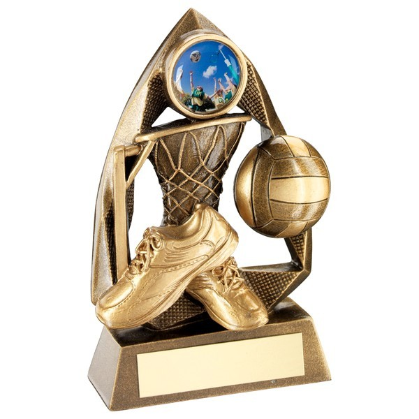 Bronze/Gold Netball Diamond Collection Trophy