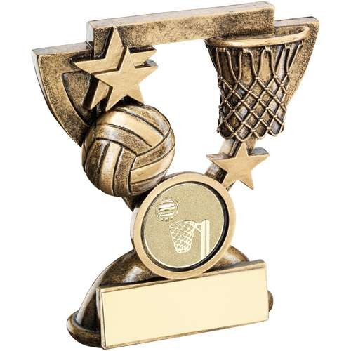 Bronze/Gold Netball Mini Cup Trophy