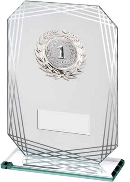 Rectangle Glass With Silver Trim Trophy