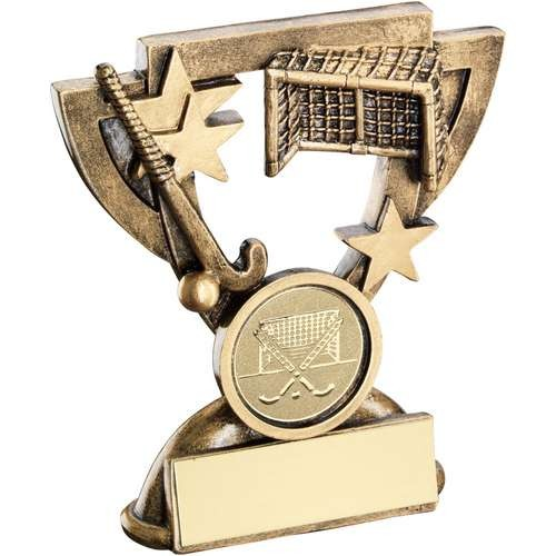 Bronze/Gold Hockey Mini Cup Trophy