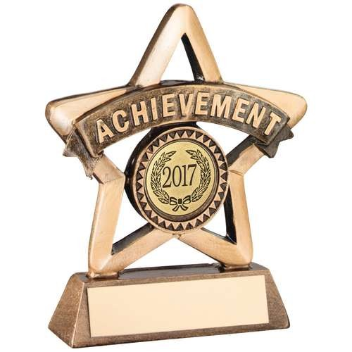 Bronze/Gold Resin 'Achievement' Mini Star Trophy