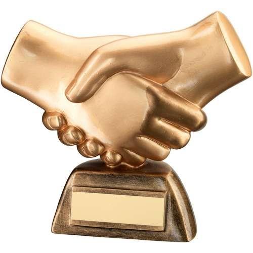 Bronze/Gold Resin 'Handshake' Trophy
