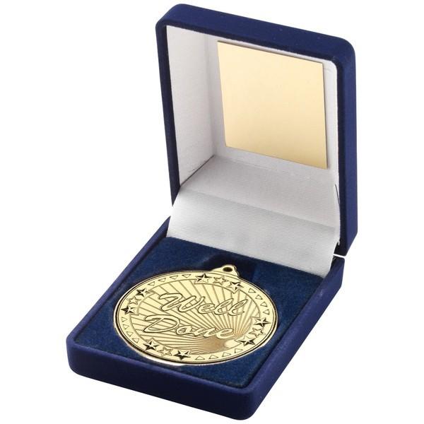Blue Velvet Box and 50mm Well Done Medal