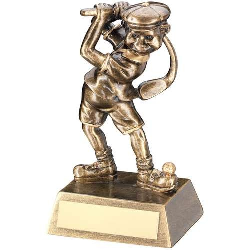 Bronze/Gold Male Comic Golf Figure Trophy