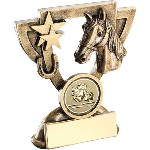 Bronze/Gold Horse Mini Cup Trophy