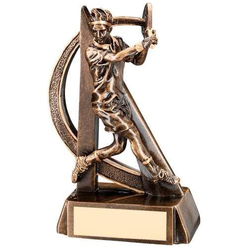 Bronze/Gold Male Tennis Geo Figure Trophy