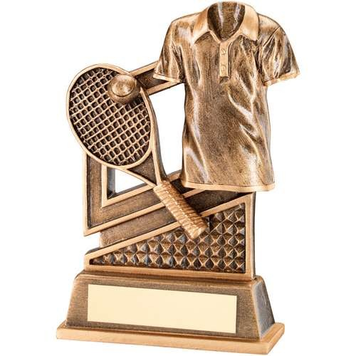 Bronze/Gold Tennis Diamond Series Trophy