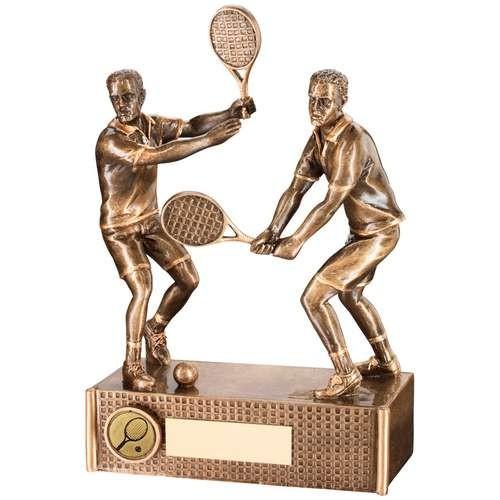 Bronze/Gold Tennis Male Doubles Trophy