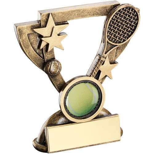 Bronze/Gold Tennis Mini Cup Trophy