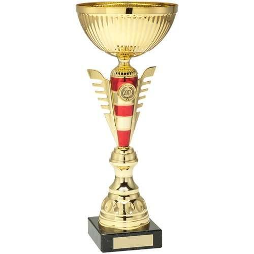 Gold/Red Stripey Stem Trophy