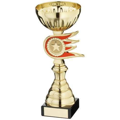Gold/Red Fireball Spacer Trophy