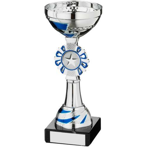 Silver/Blue Round Wreath Trophy