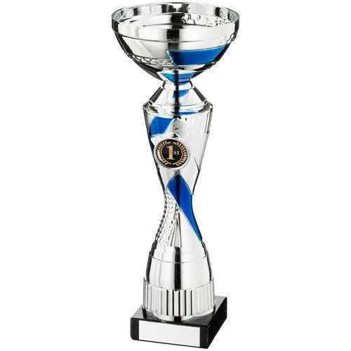 Silver/Blue Abstract Stem Trophy